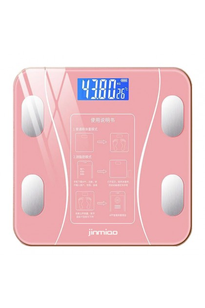 Smart Rechargable Body Fat Scale Digital Bluetooth APP Android or IOS - Pink