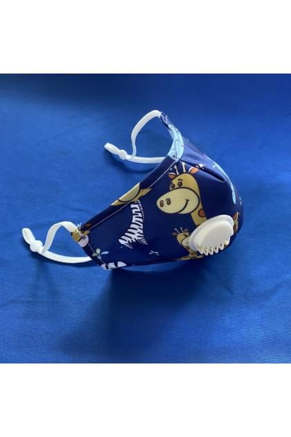 KIDS Giraffe Cotton Face Mask with Filter Pocket Washable Reusable + 2pcs filter 儿童纯棉口罩+2滤片