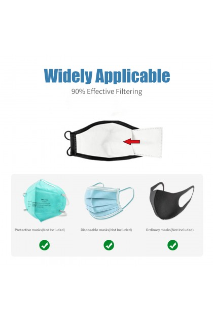 Adult PM2.5 Activated Carbon 5-Layer Safety Mask Filter Insert 成人口罩滤片PM2.5过滤片